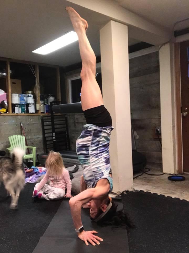 headstands flip baby