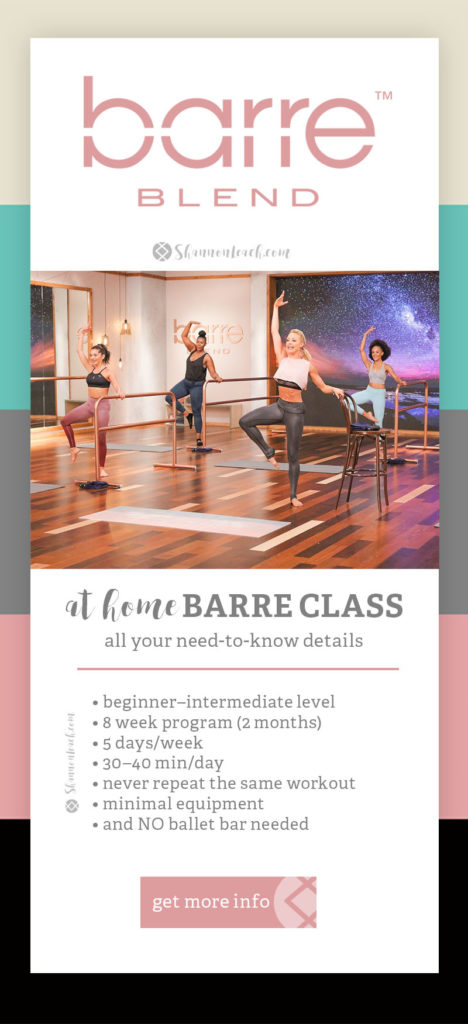 Barre Blend Program Info