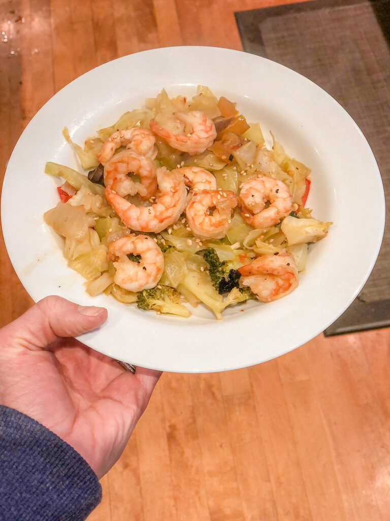 Shrimp & Cabbage Stir Fry